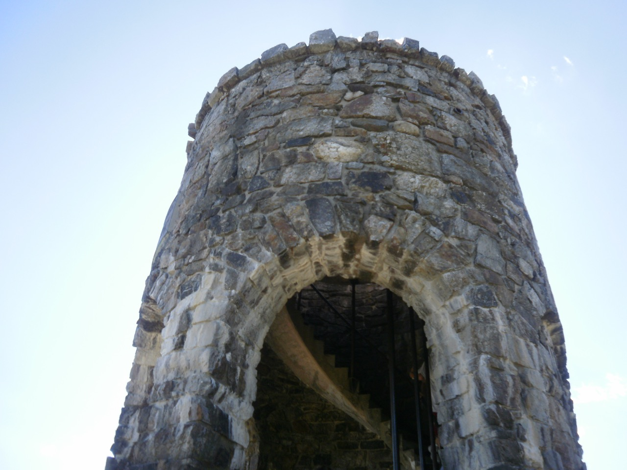 Structure atop Mount Battie, which visitors can climb.